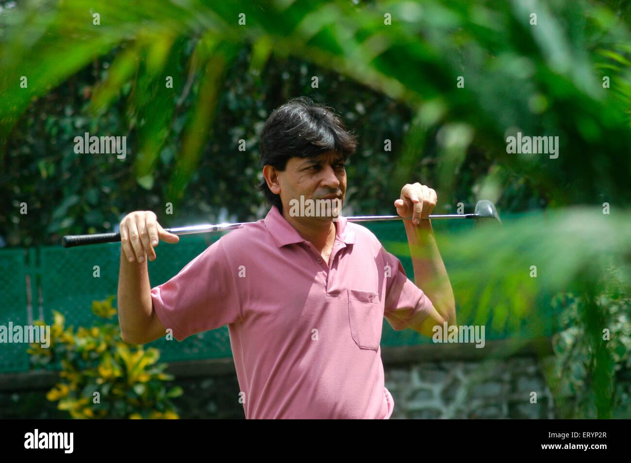 Billiards and Snooker champion Geet Sriram Sethi play game of golf at BPGC Bombay Presidency Golf Club in Bombay - Stock Image