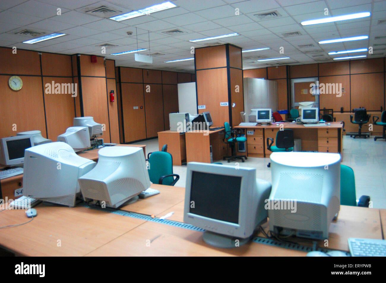 Interior of Income tax office at BKC Bandra Kurla Complex in Bombay Mumbai ; Maharashtra ; India - Stock Image
