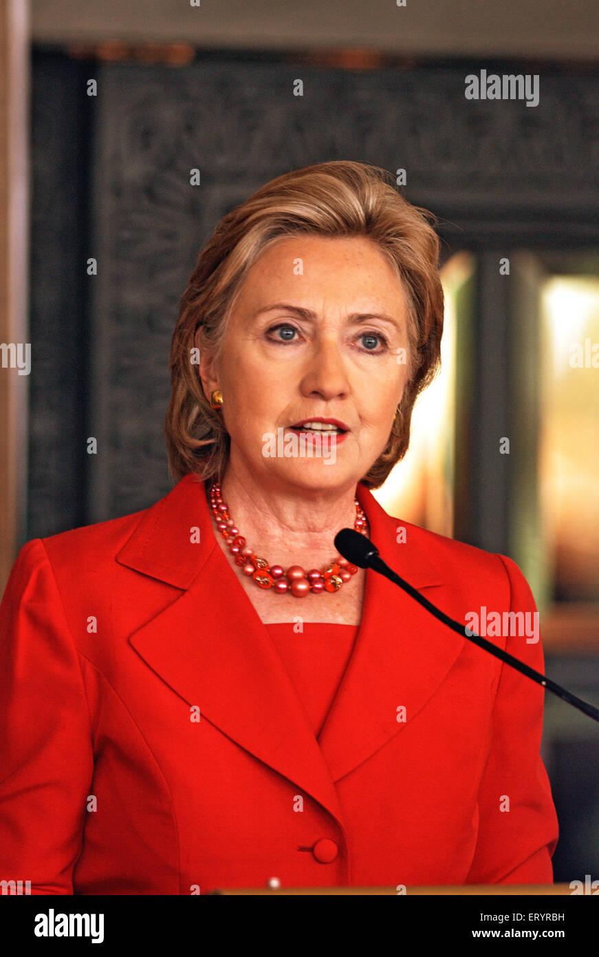Hillary clinton united states secretary ; India 18 July 2009 NOMR - Stock Image