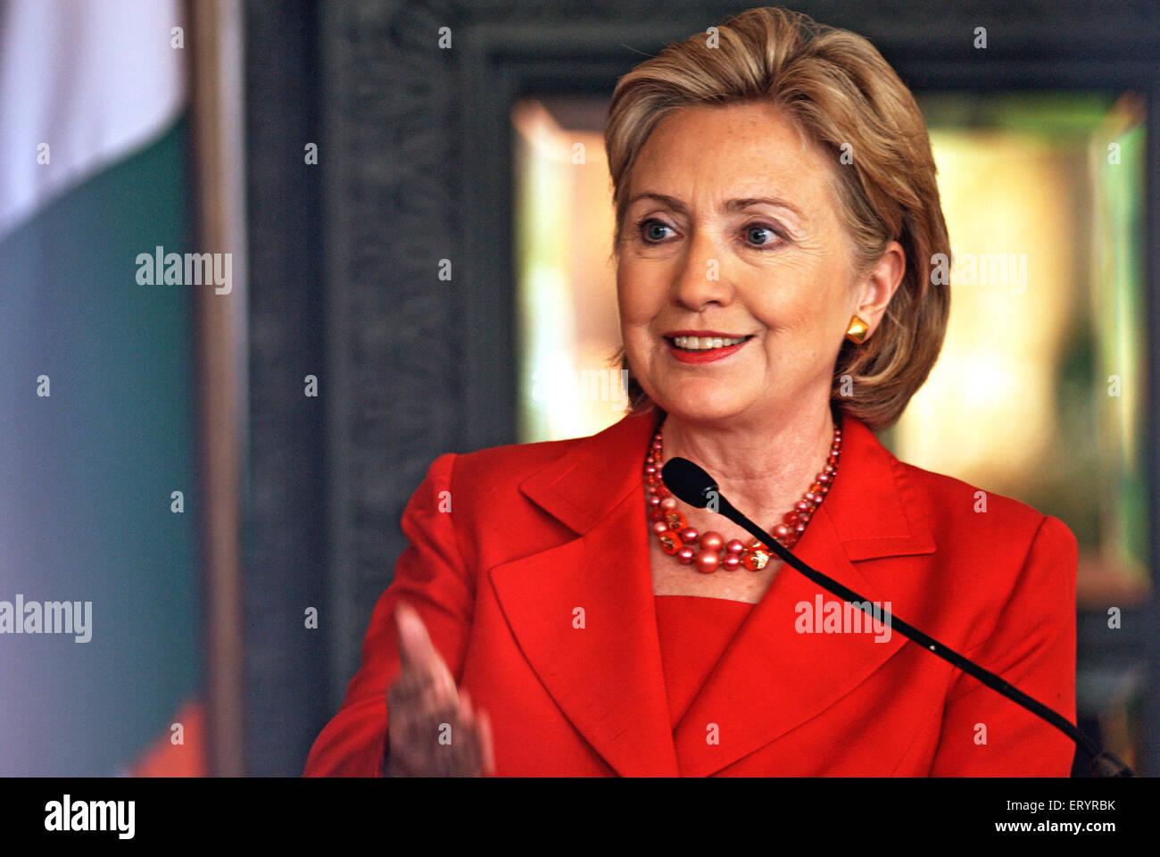 Hillary clinton united states secretary - Stock Image