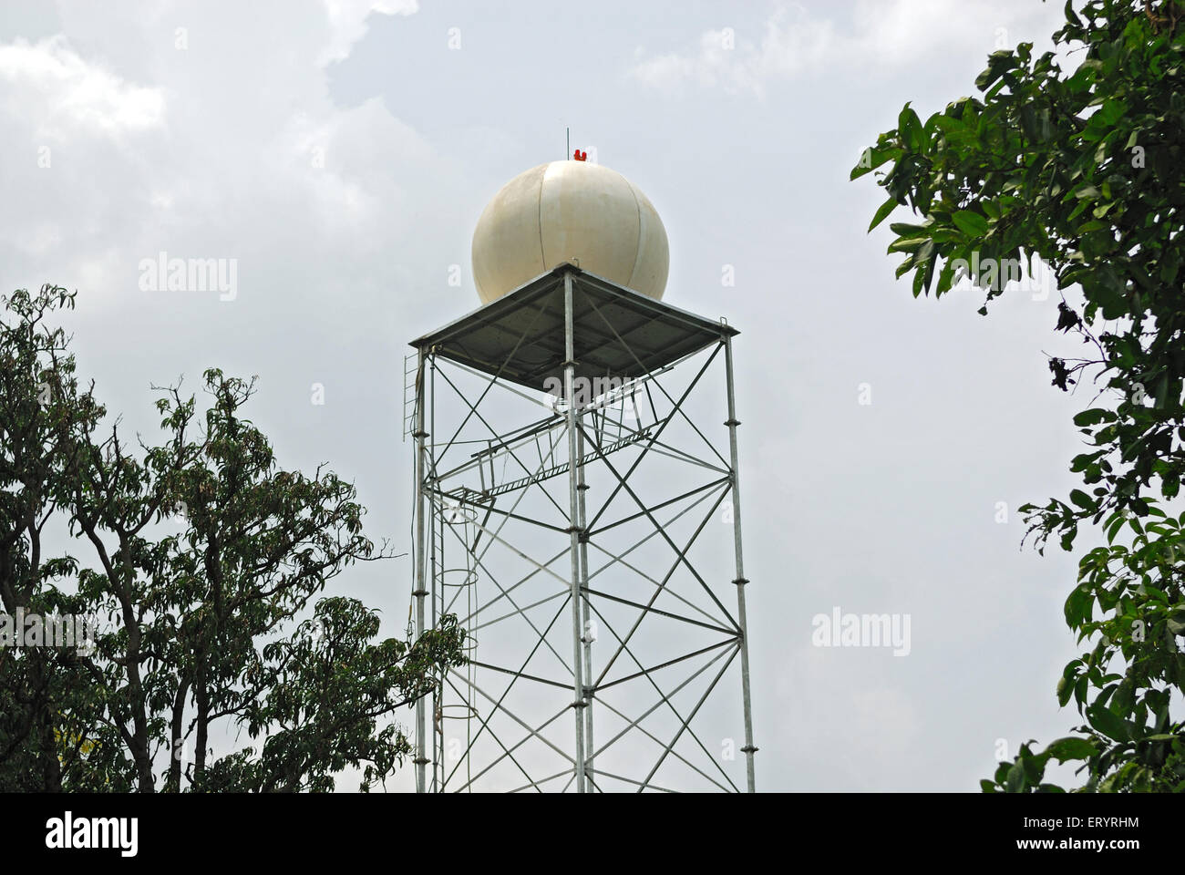 Mini air traffic control radar setup for cloud seeding ; Vaitarana ; Mumbai Bombay ; Maharashtra ; India 10 September - Stock Image