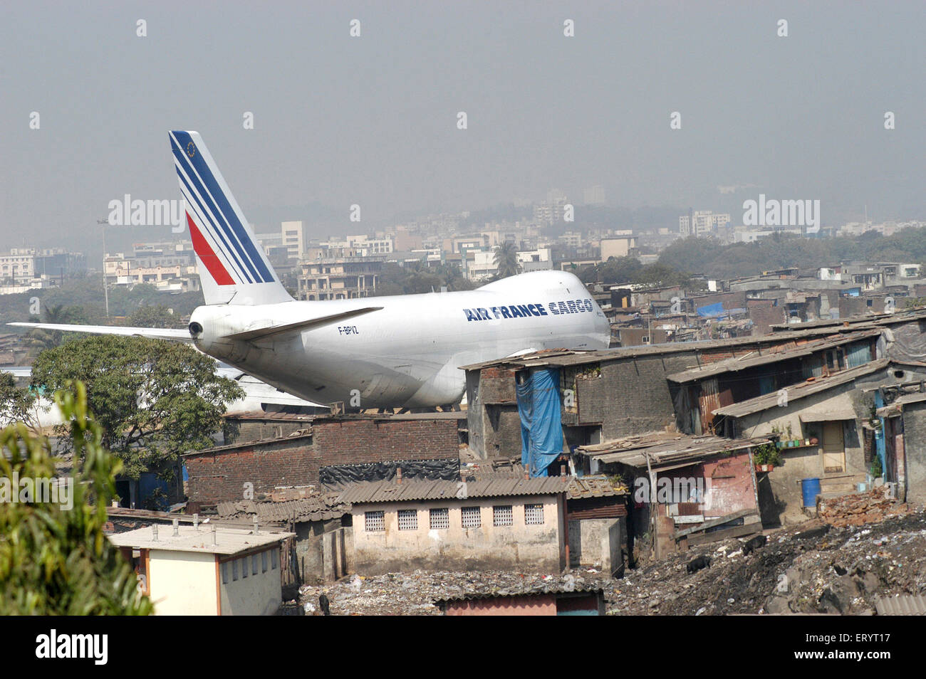 Air France cargo plane prepare to take off from Sahar airport Chatrapati Shivaji International airport in Bombay - Stock Image