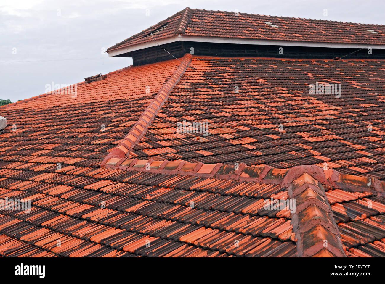 Rooftops Bombay Mumbai ; Maharashtra ; India - Stock Image