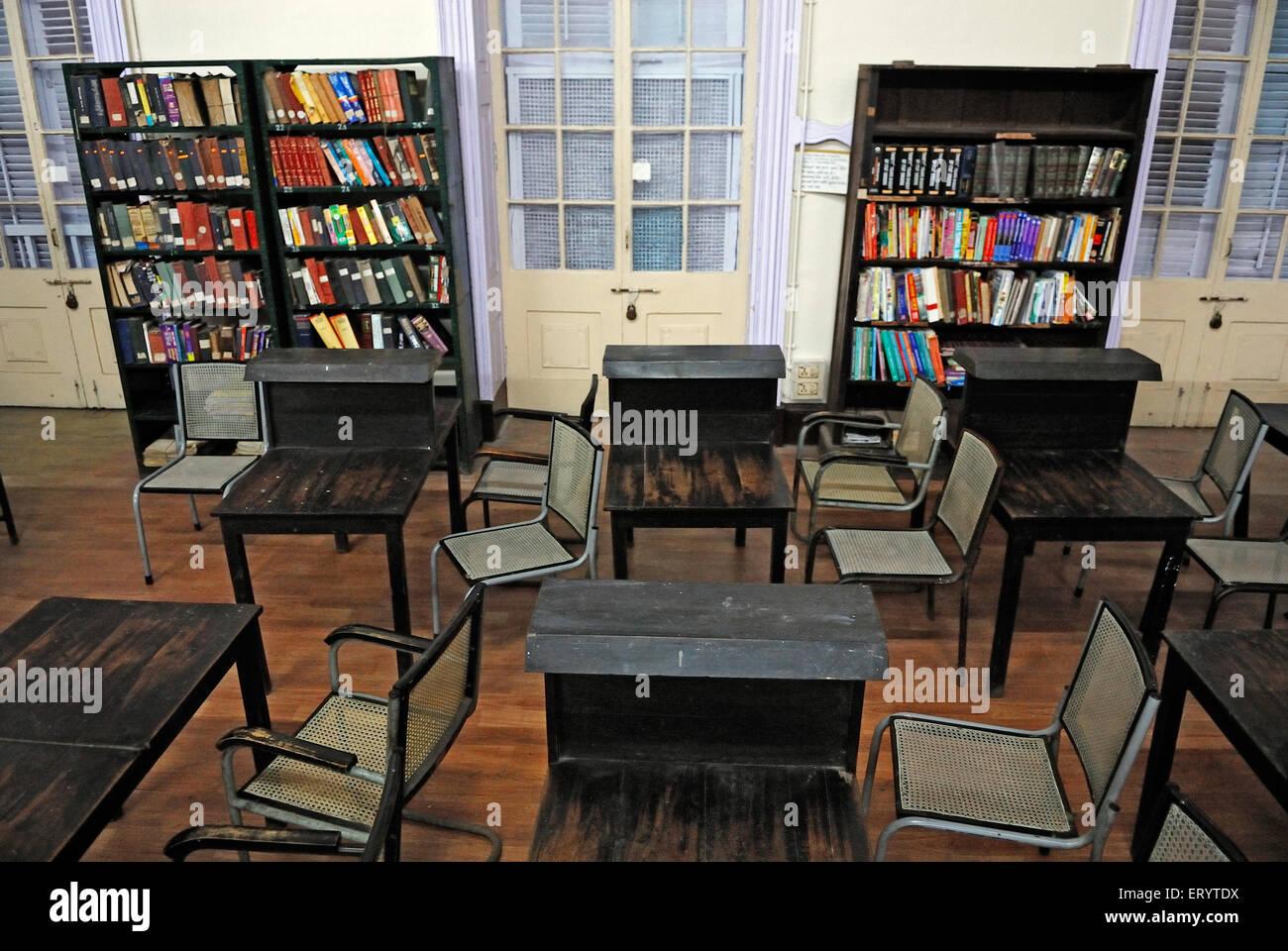 Book shelves in town hall ; asiatic library Bombay Mumbai ; Maharashtra ; India - Stock Image