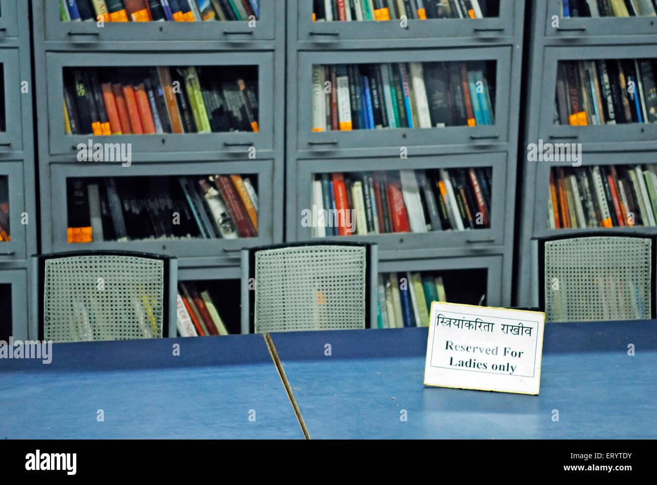 Notice on table of town hall asiatic library Bombay Mumbai ; Maharashtra ; India - Stock Image