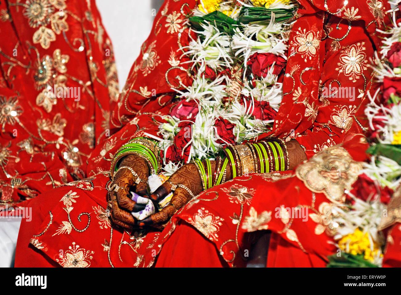 Muslim bride mass marriage Bombay Mumbai Maharashtra India - aum 175136 - Stock Image
