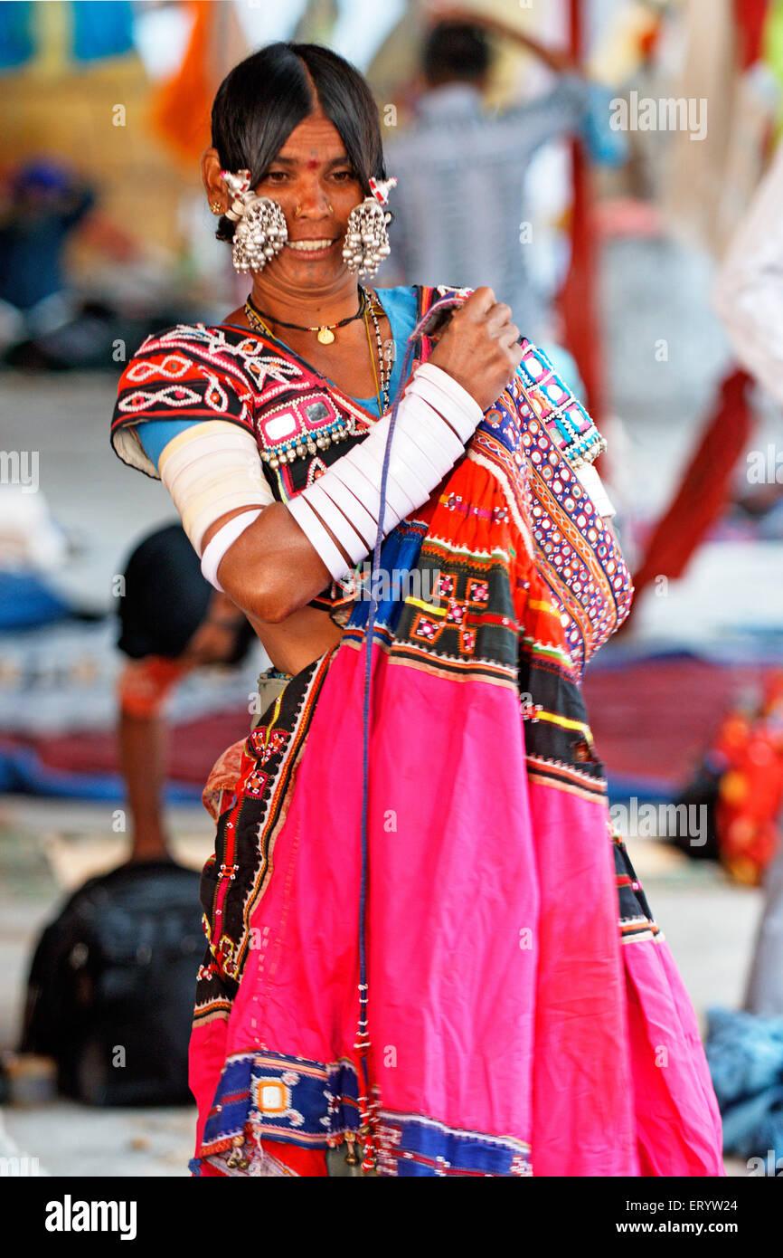banjara gypsy nomad tribe woman nanded maharashtra india no mr