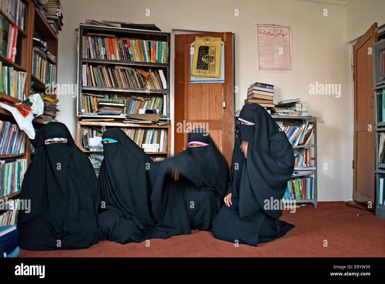 Islamic extremist organisation of women Dukhtaran E Millat  ; Srinagar ; Jammu and Kashmir ; India NOMR - Stock Image
