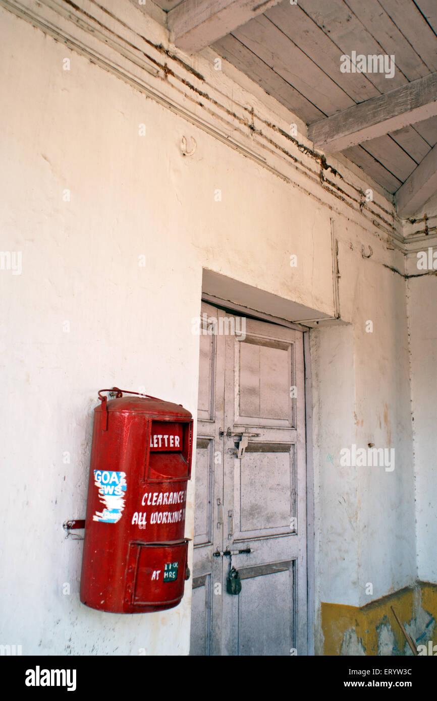 Letter box  ;  Panaji  ; Panijm  ; Goa  ; India - Stock Image