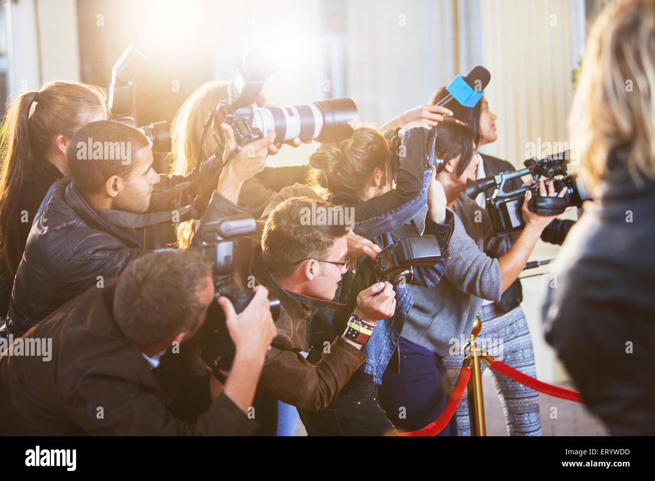 Paparazzi Photographers At Red Carpet Event Stock Photo 83591241