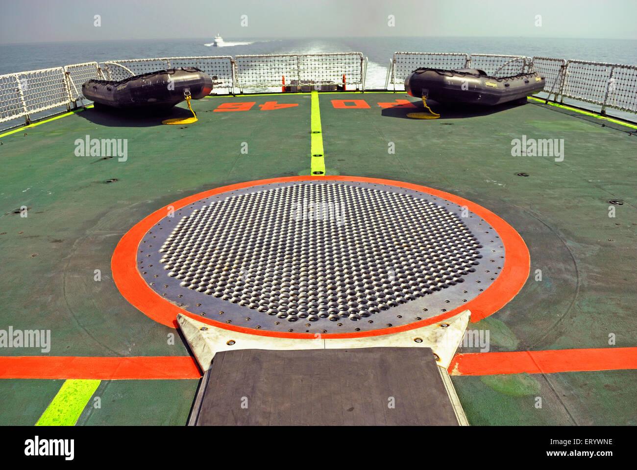 Helicopter landing mark  ; Bombay  ; Mumbai  ; Maharashtra  ; India - Stock Image