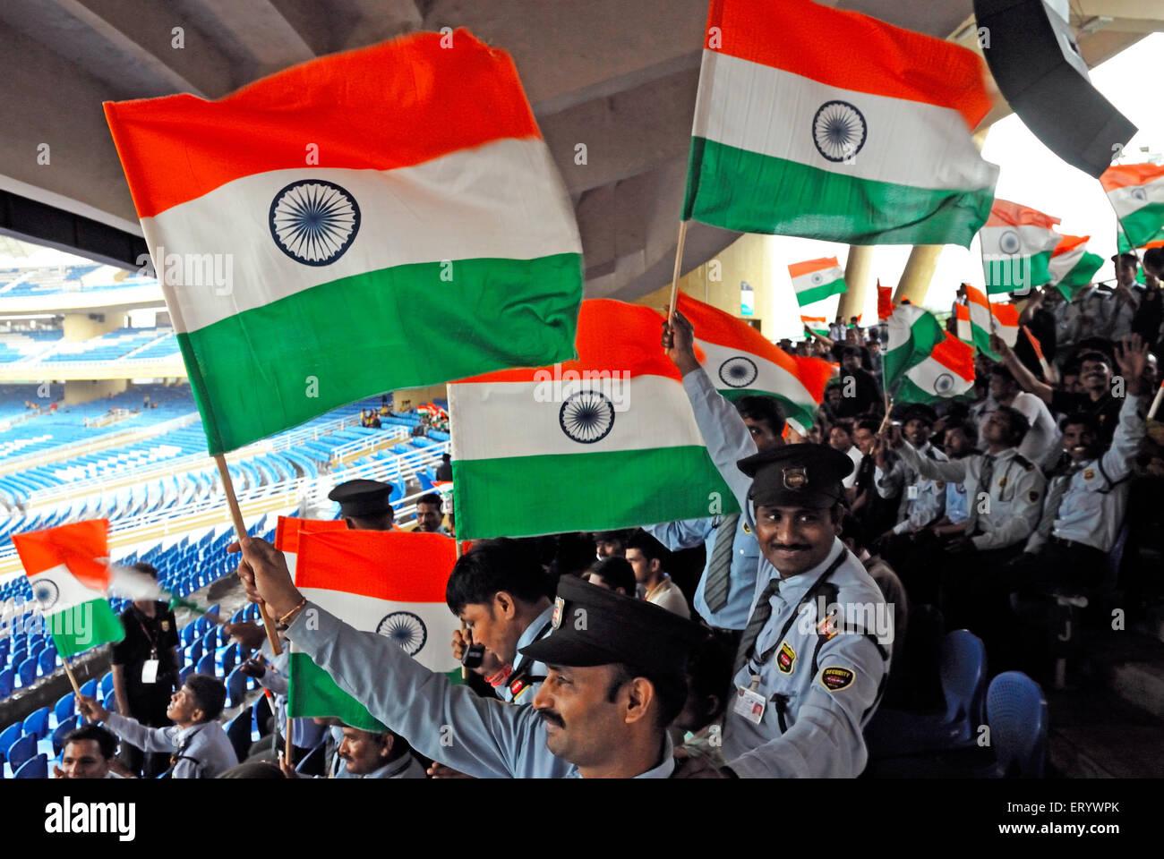 Indian Flag Cricket: Navi Mumbai Stock Photos & Navi Mumbai Stock Images