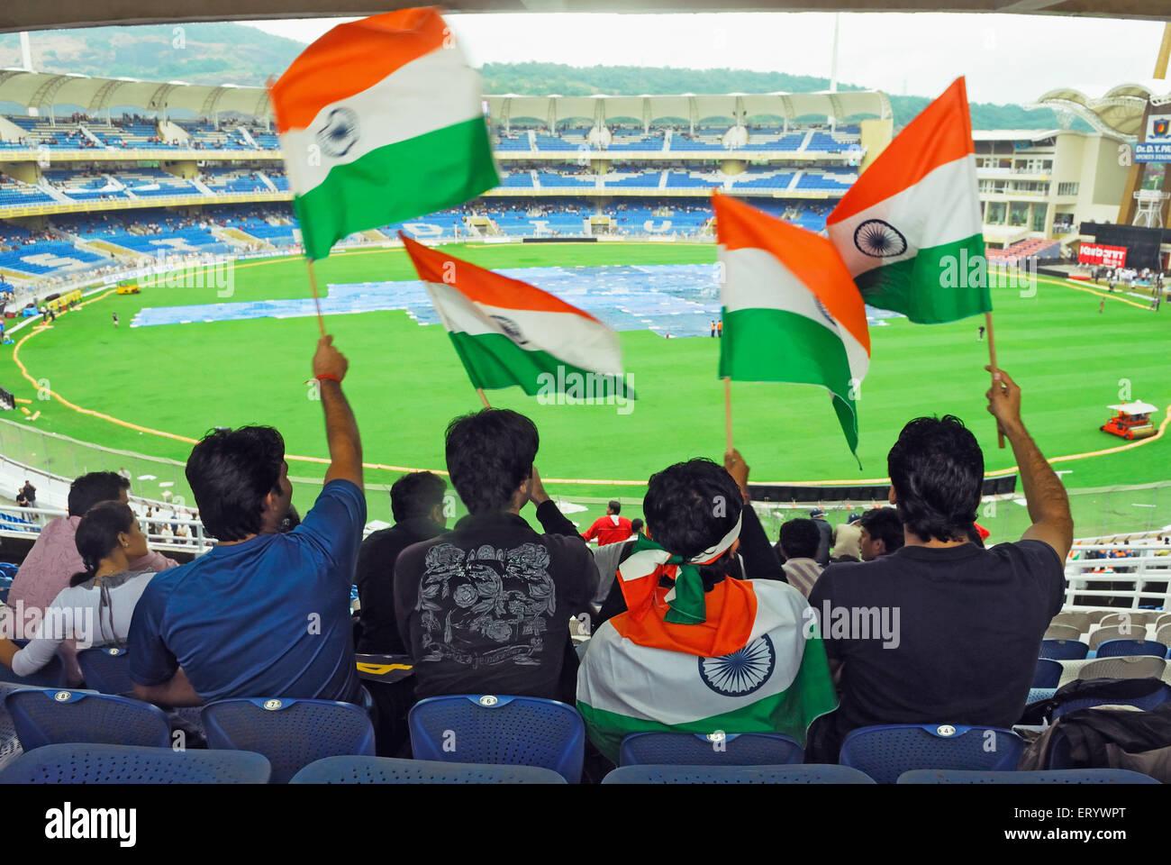 Indian Flag Cricket: Indian Flag Stadium Stock Photos & Indian Flag Stadium