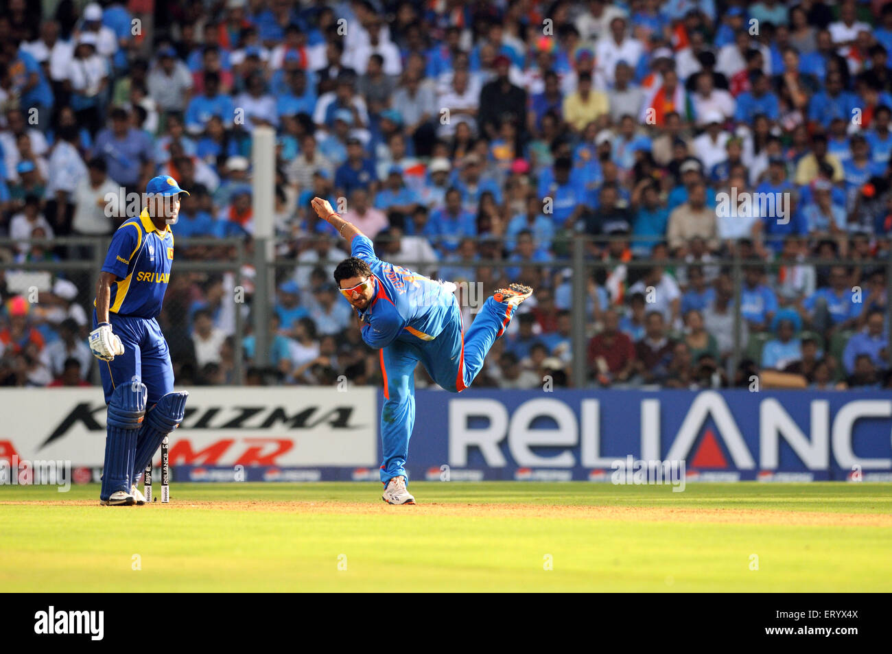 Sri Lankan batsman Thilan Samaraweera ICC Cricket World Cup finals Wankhede stadium Mumbai - Stock Image