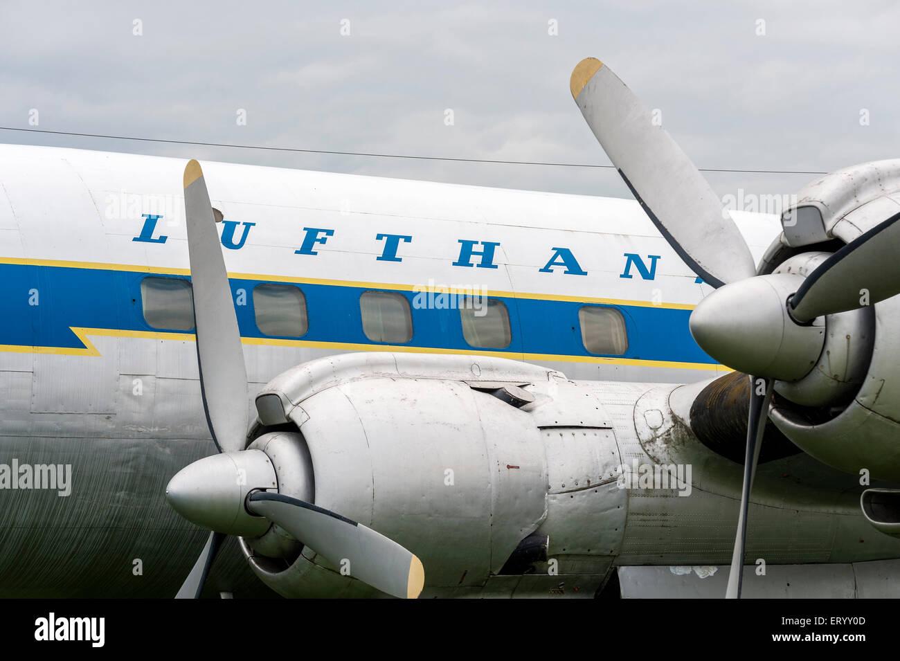 Classic Lufthansa Airplane - Stock Image