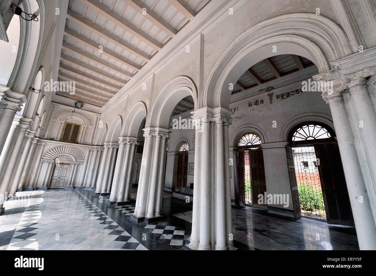 Jorasanko thakur bari prayer hall of poet rabindranath tagore Kolkata ; Calcutta ; India - Stock Image