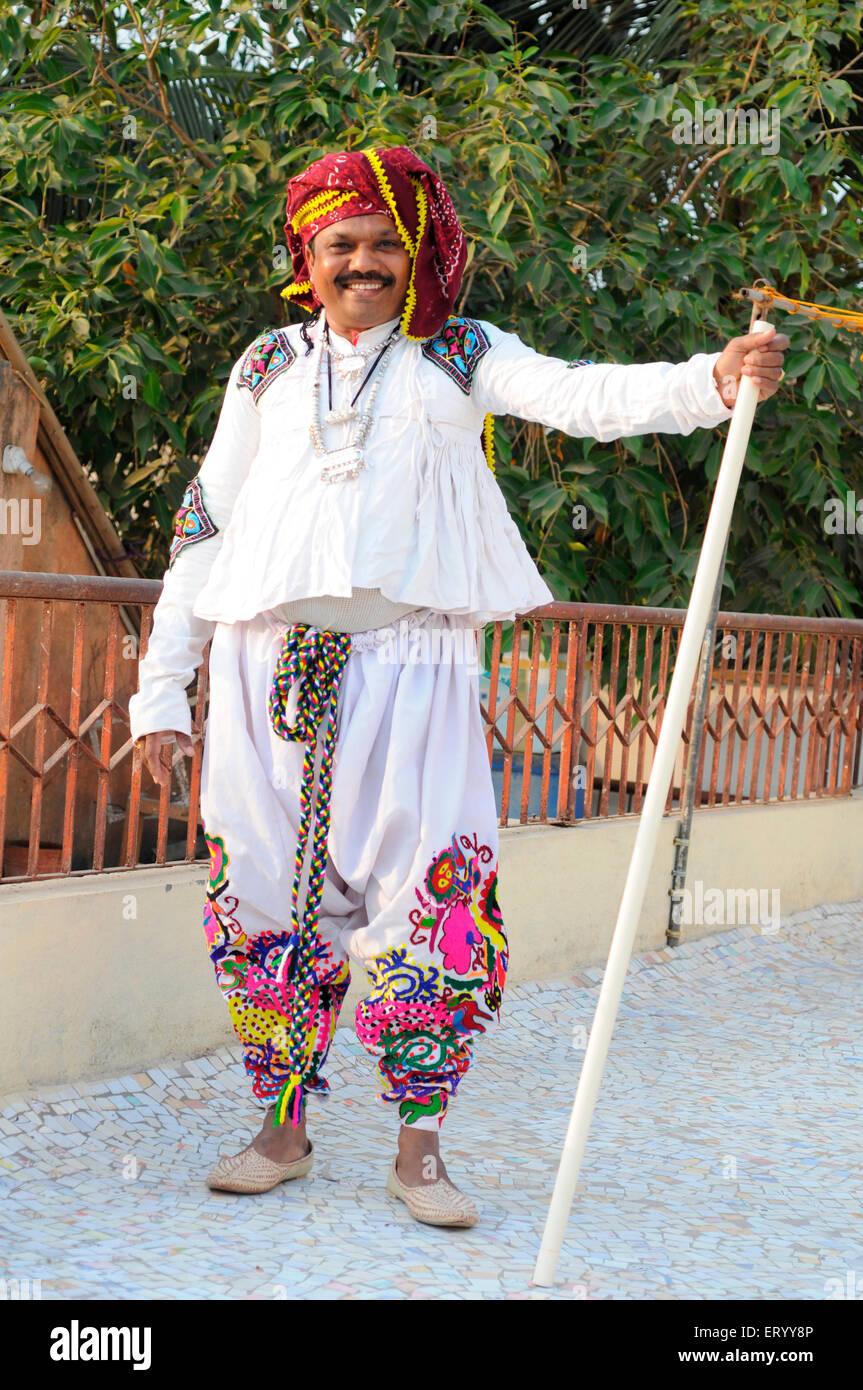 Kanbi tribal man ; Bhuj ; Kutch ; Gujarat ; India  MR#771B - Stock Image