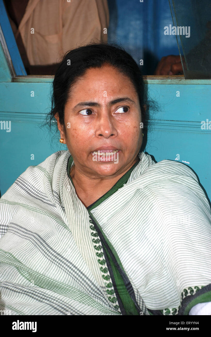 Railway minister Mamta Banerjee NO MR - Stock Image