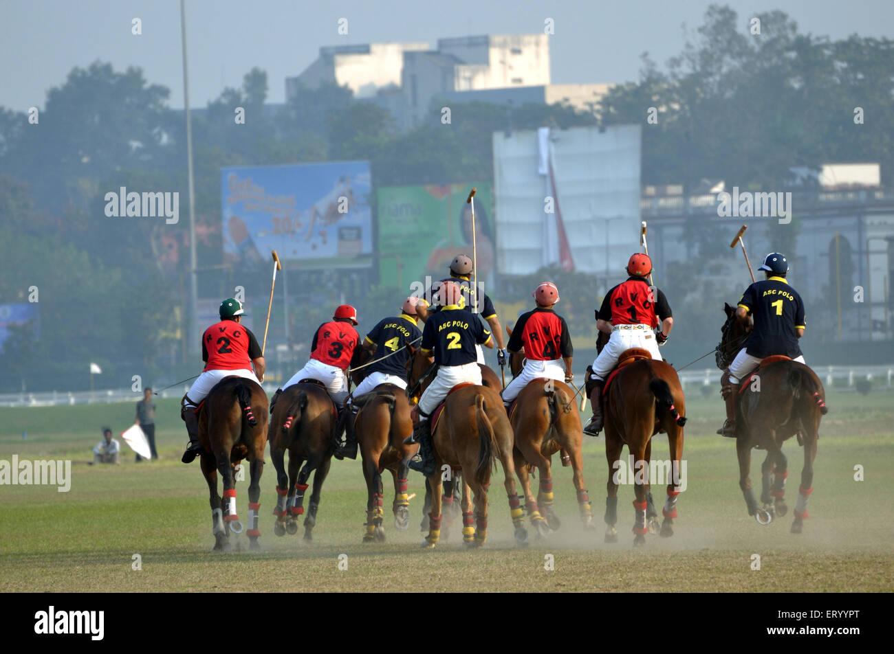 Polo match ; Calcutta Kolkata ; West Bengal ; India - Stock Image