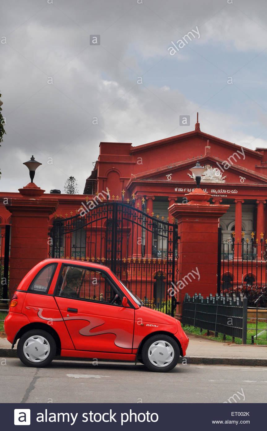 Reva electric car in Bangalore ; Karnataka ; India - Stock Image