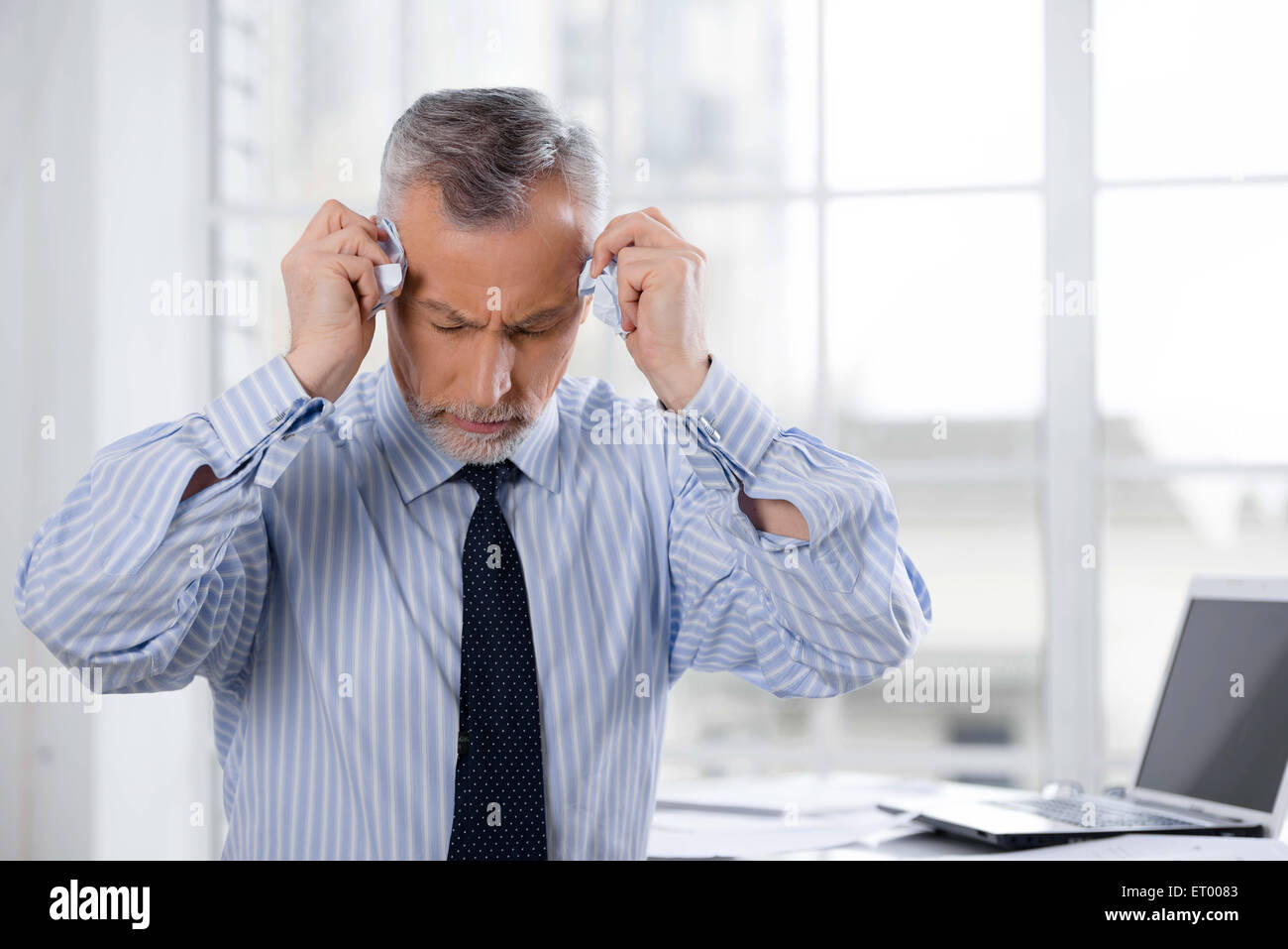 Concept for businessman in office - Stock Image