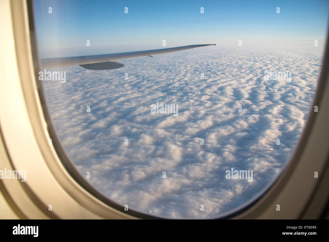 Cloud seen from Aircraft window - Stock Image