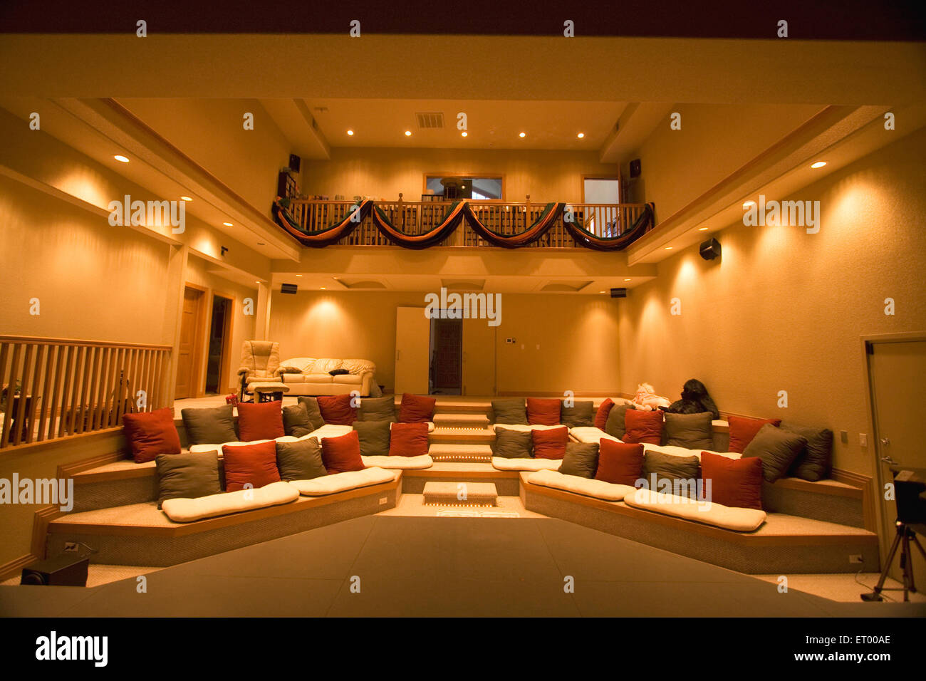 Theatre hall in home ; Denver ; USA United States of America - Stock Image