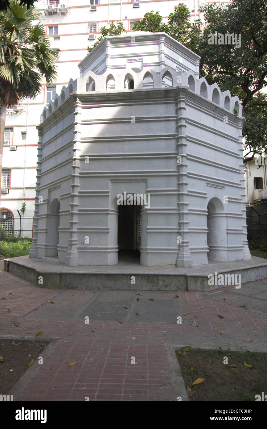 Hexagonal burial ground in compound of St. John church in Bbd Baug ; Kolkata ; West Bengal ; India Heritage - Stock Image