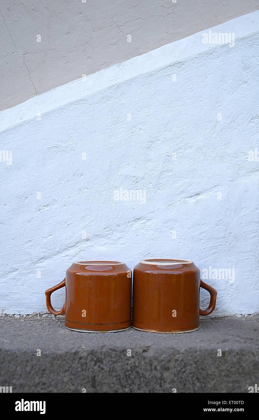 two coffee mugs - Stock Image