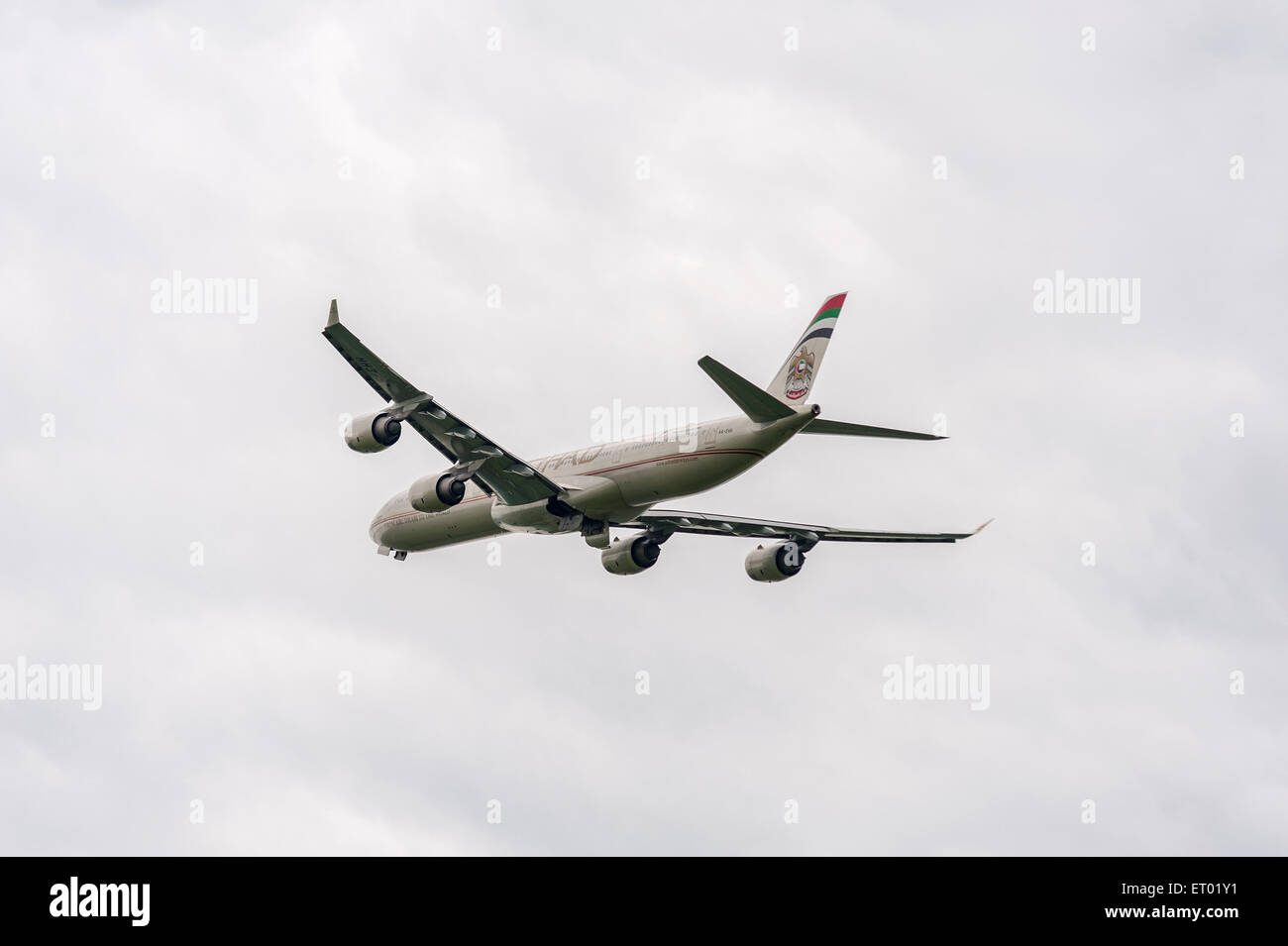 Etihad Airways - Airplane - Stock Image