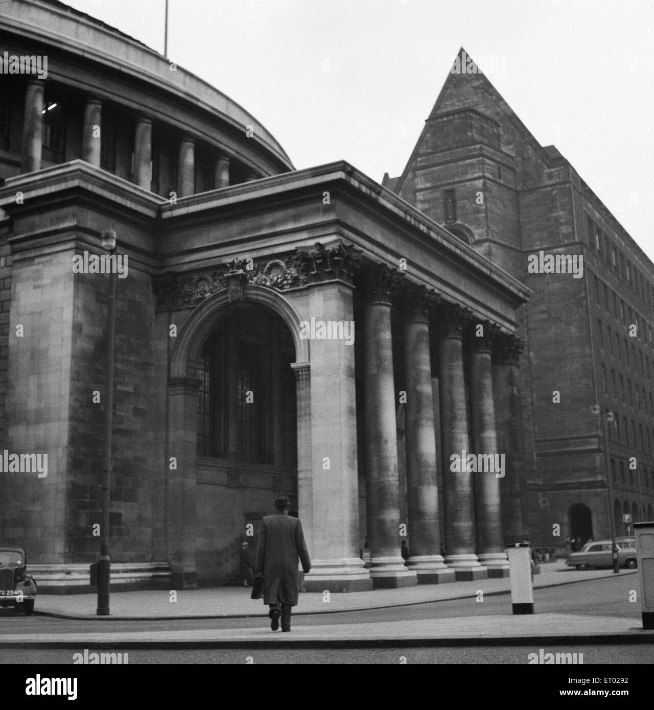 Manchester Central Library, 4th April 1953. - Stock Image