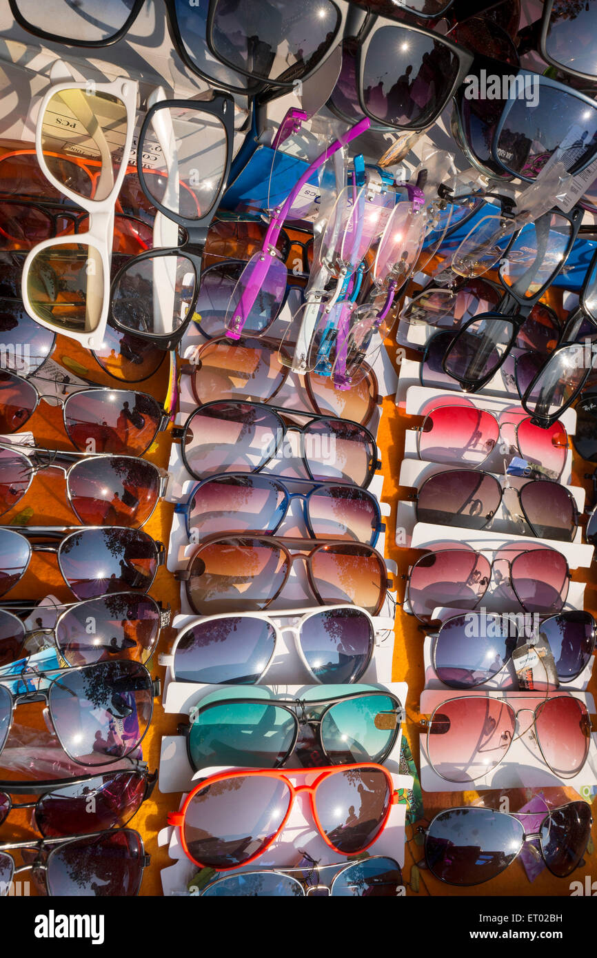 PVC Goggle and spectacle India Asia - Stock Image
