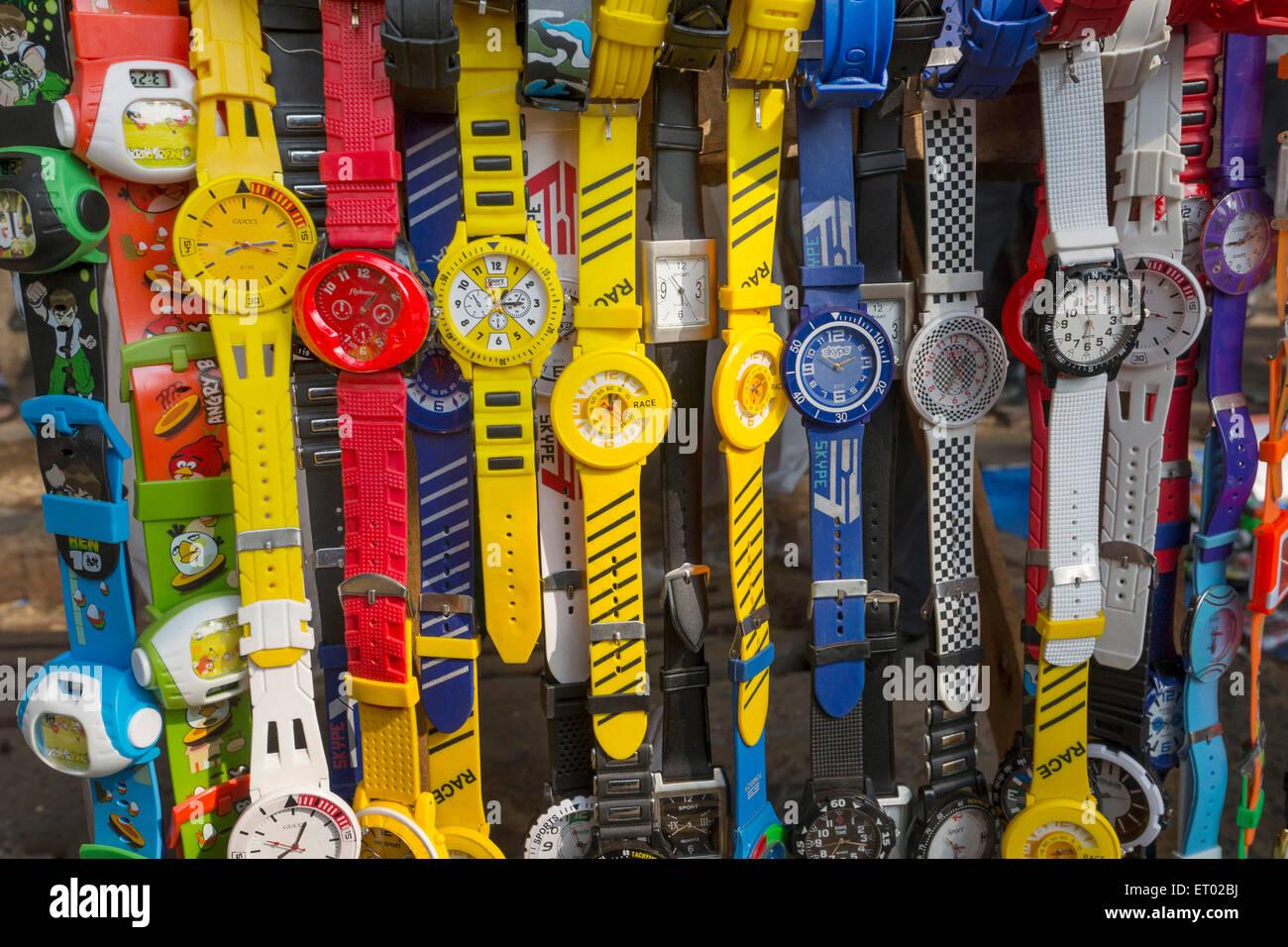 PVC Wrist watch India Asia - Stock Image