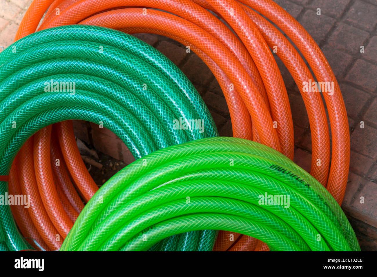 PVC Suction Hose India Asia - Stock Image