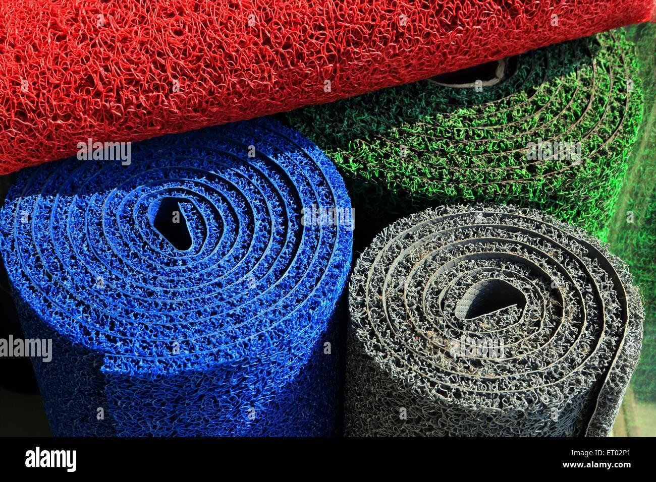 PVC Carpets India Asia - Stock Image