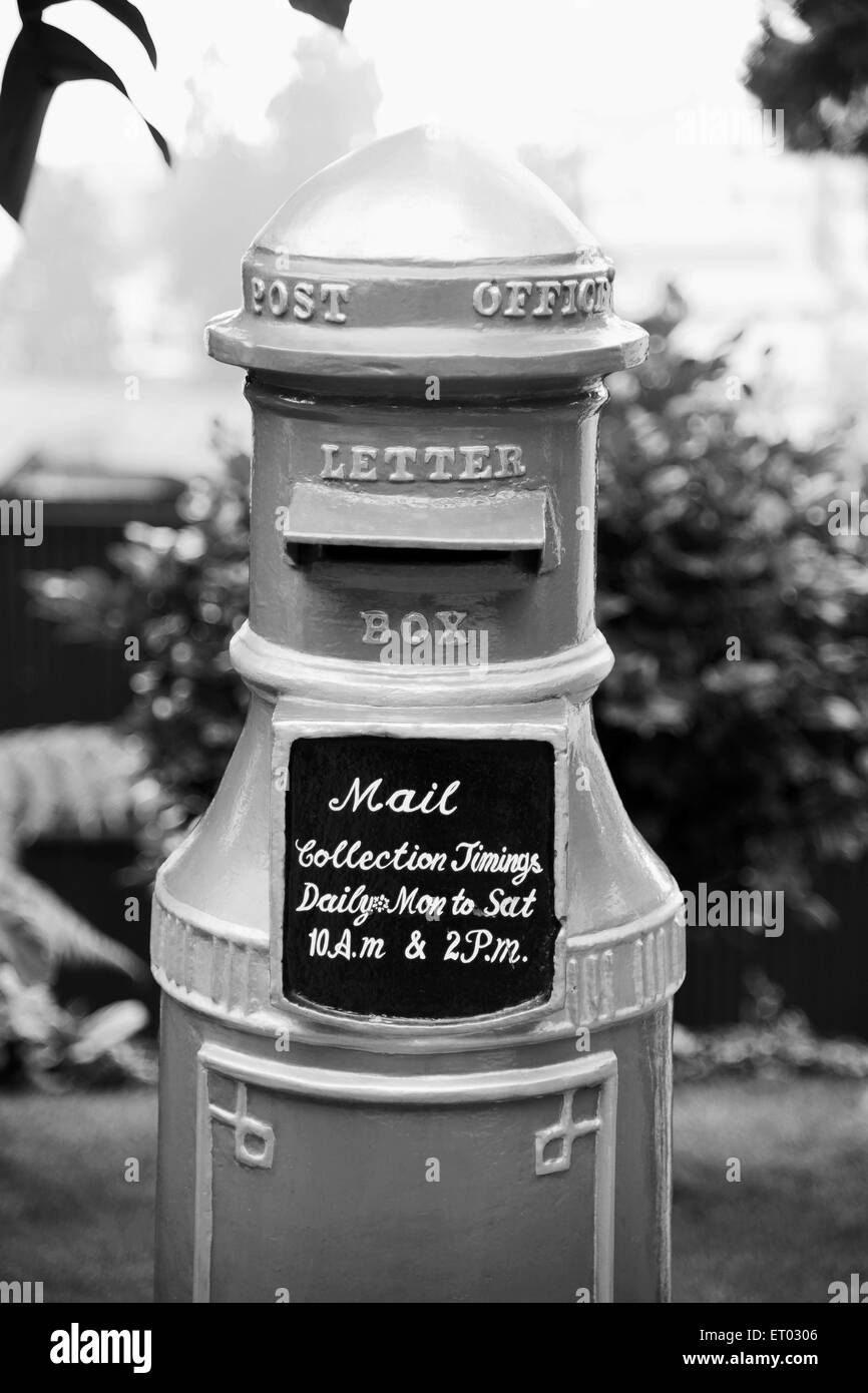 Old post office letter box in Elgin Hotel , Darjeeling , West Bengal India , 2011 Stock Photo
