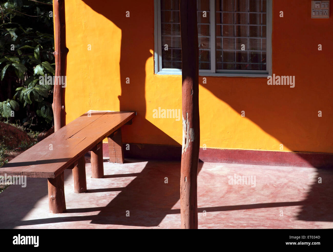 Veranda ; Madikeri ; Coorg ; Karnataka ; India 23 December 2008 - Stock Image