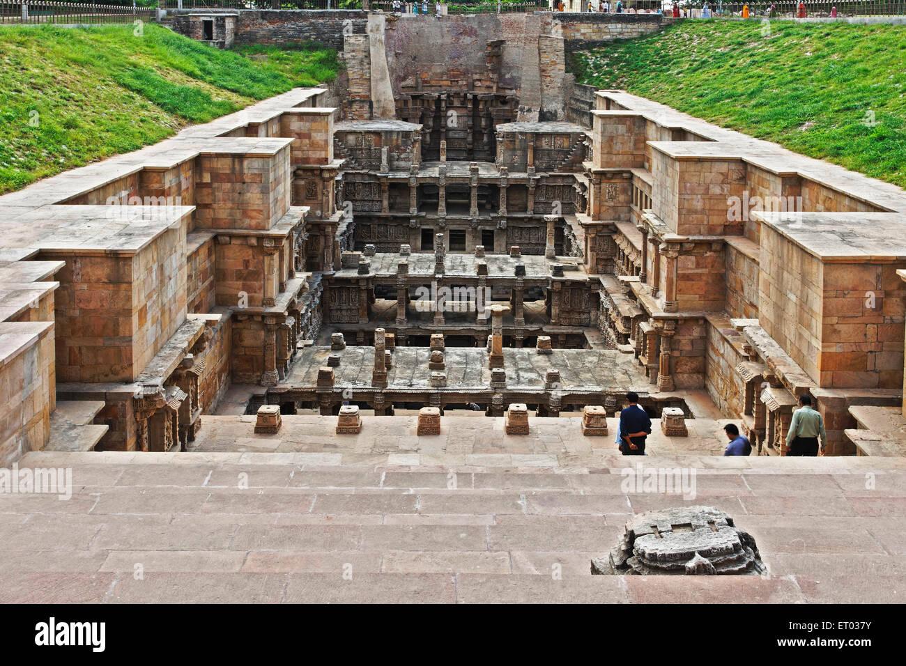 Rani ki vav ; step well ; stone carving ; Patan ; Gujarat ; India - Stock Image
