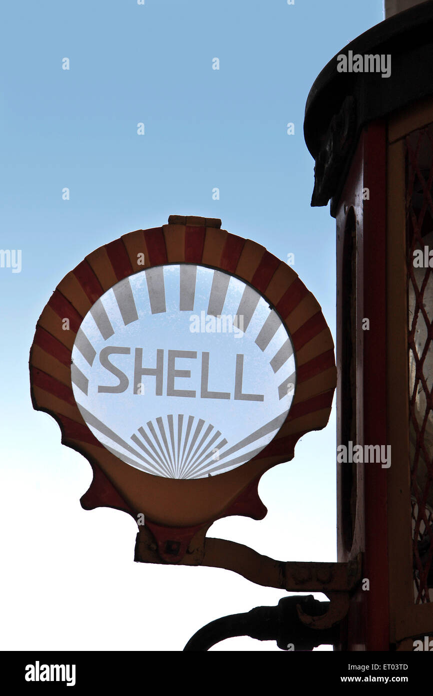 Shell company's logo in glass - Stock Image