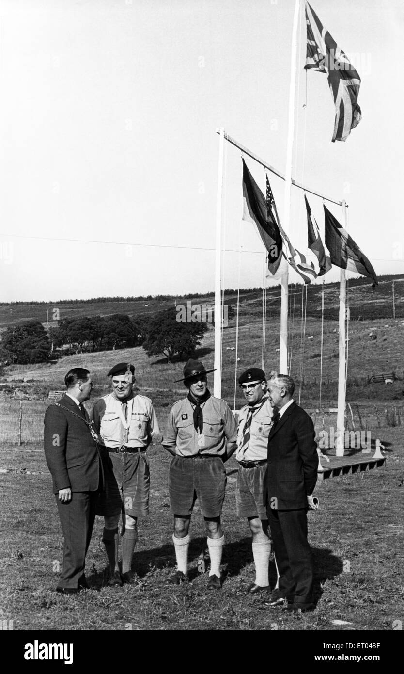 Boy Scouts Leaders, Teesside,  23rd August 1966. - Stock Image