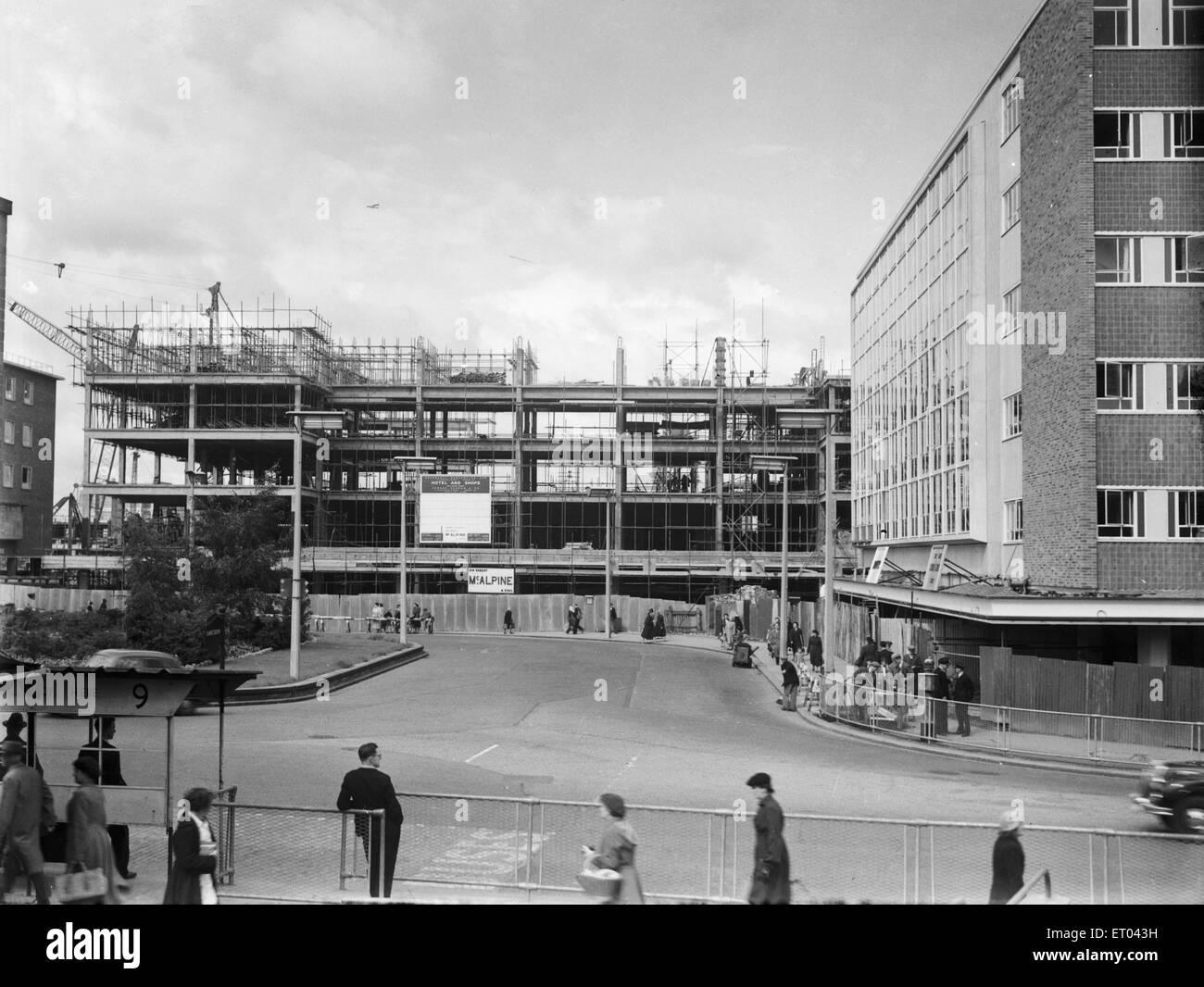 Broadgate under construction circa 1954 - Stock Image