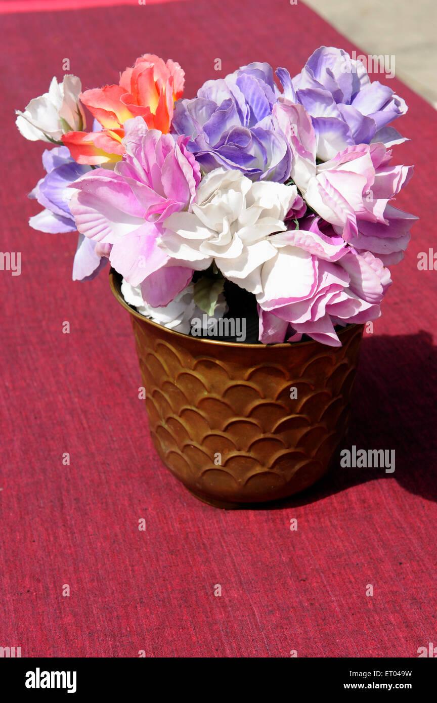 Flower vase at dhukur pokhari pisang ; Nepal ; Asia - Stock Image