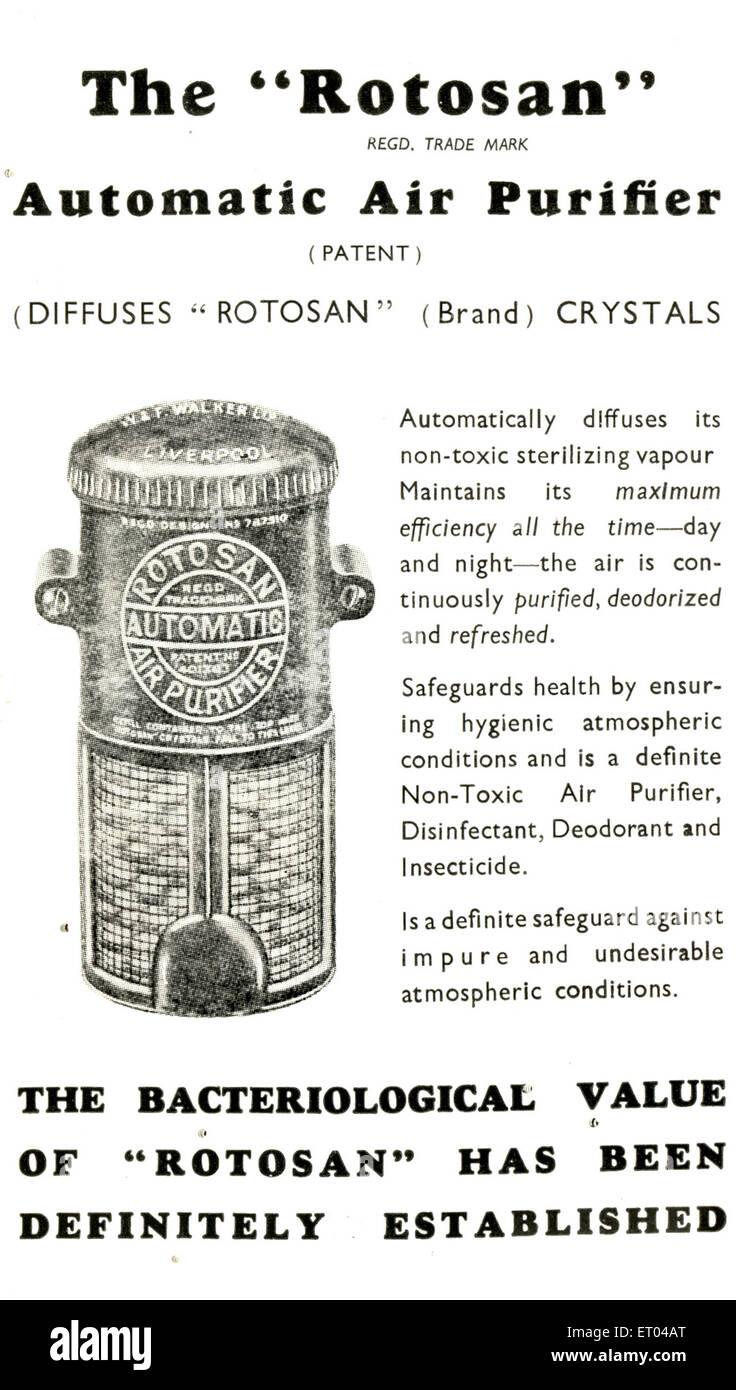 Advertisement ; Parsi Lustre BK ; The Rotosan - Stock Image