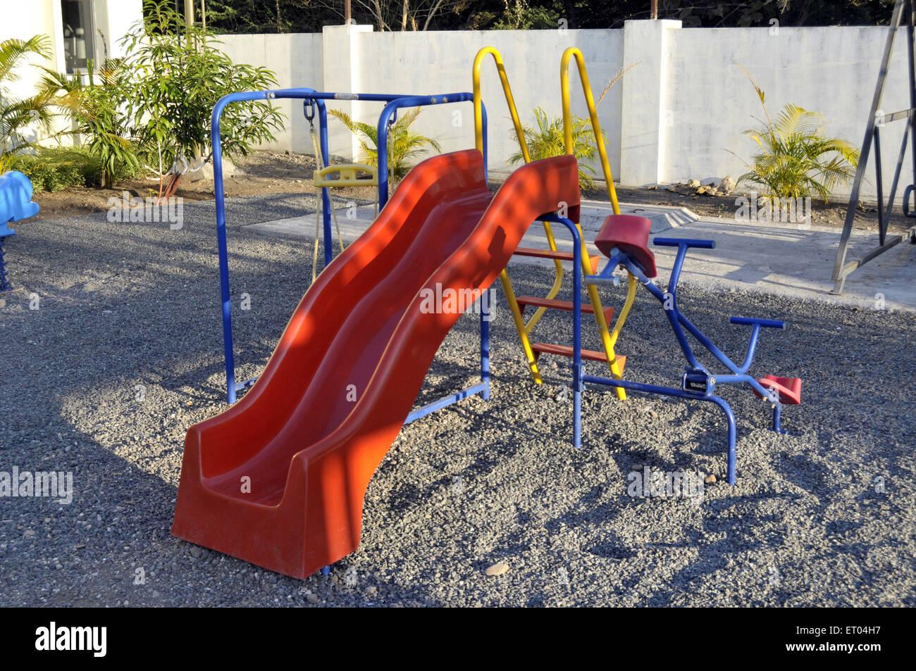 Slide in playground Gir at Gujarat India - Stock Image