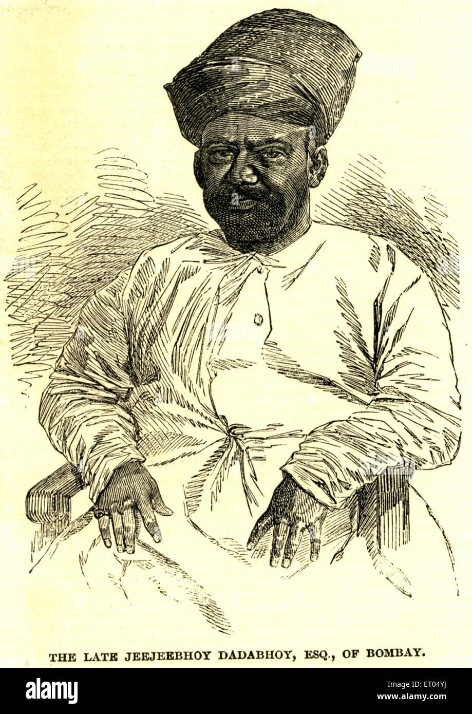 The late Jeejeebhoy Dadabhoy ; Bombay now Mumbai ; Maharashtra ; India NO MR - Stock Image