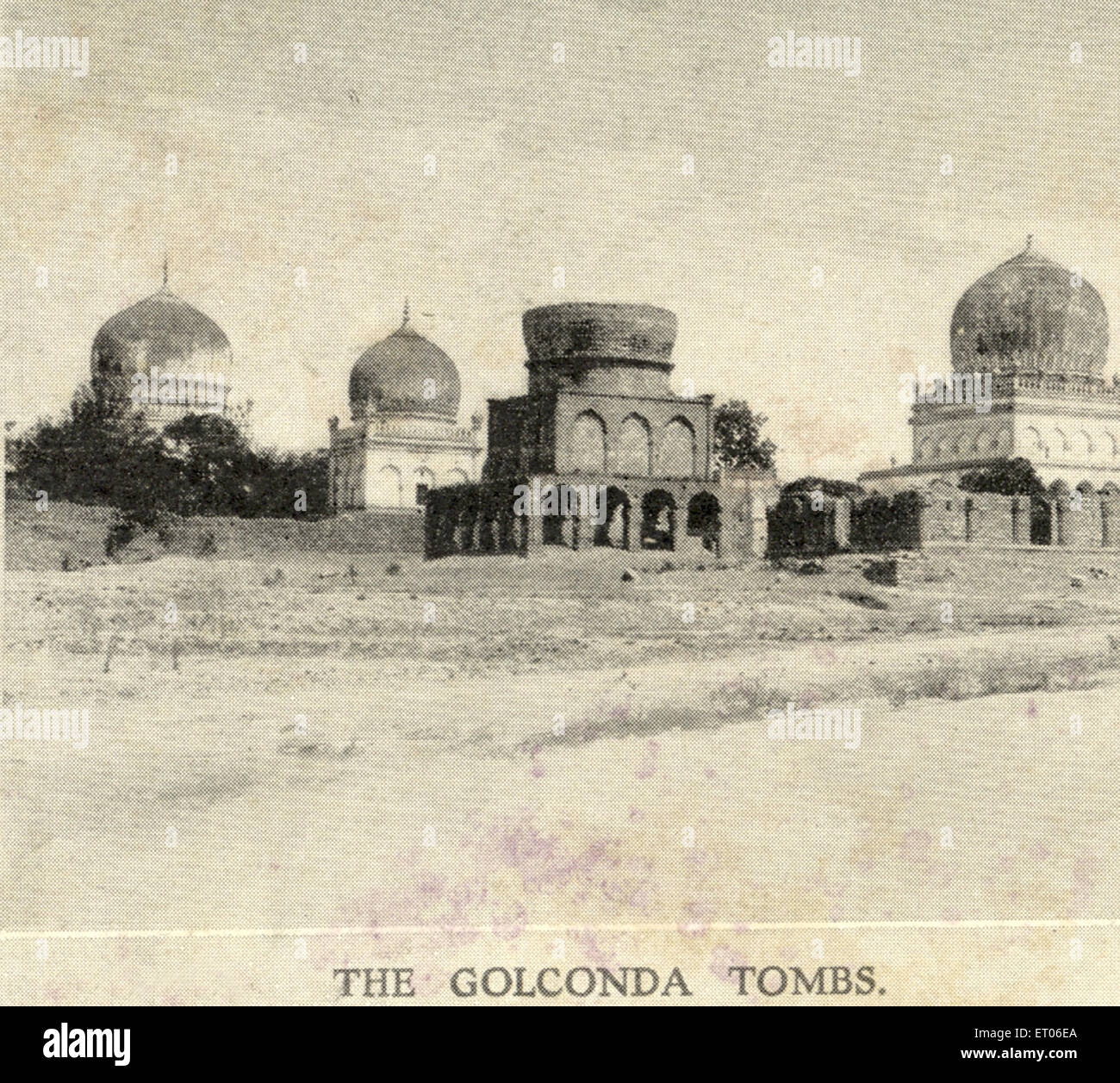 The Golconda tombs ; 10th February 1906 ; Hyderabad ; Andhra Pradesh ; India - Stock Image