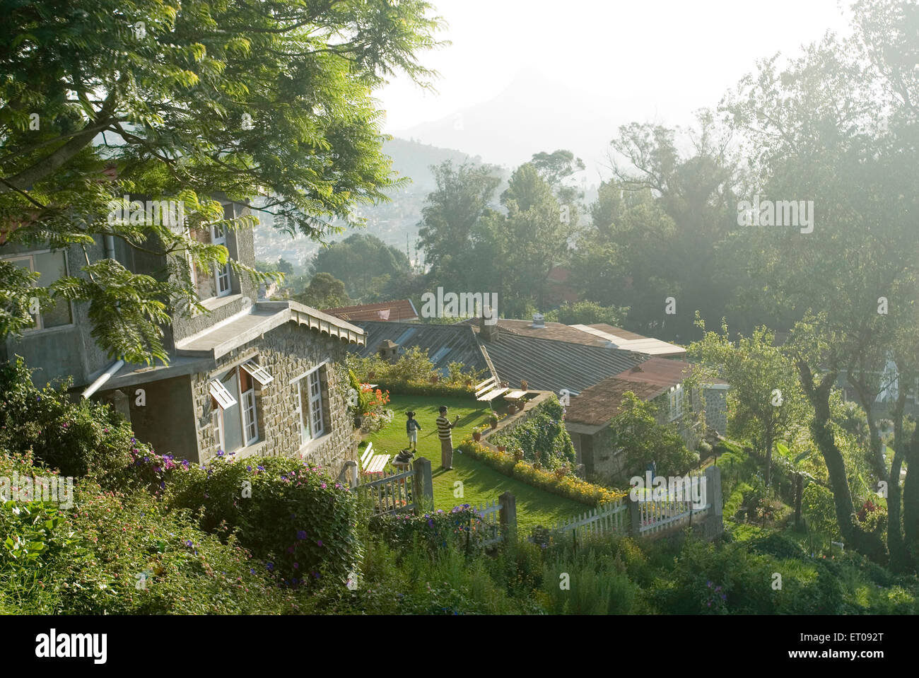 Resorts at Palani hills at 2133 meters above sea level ; Kodaikanal popularly known as Kodai ; Tamil Nadu ; India - Stock Image