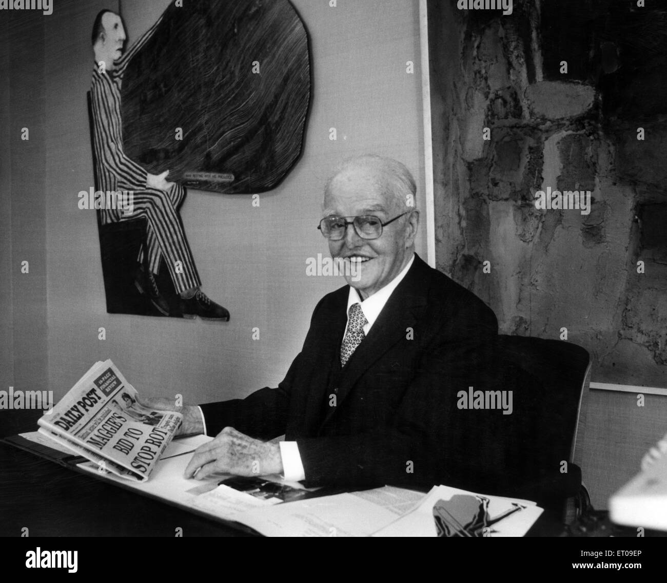 Sir John Moores CBE (25th January 1896- 25th September 1993). Businessman and philanthropist who founded Littlewoods - Stock Image