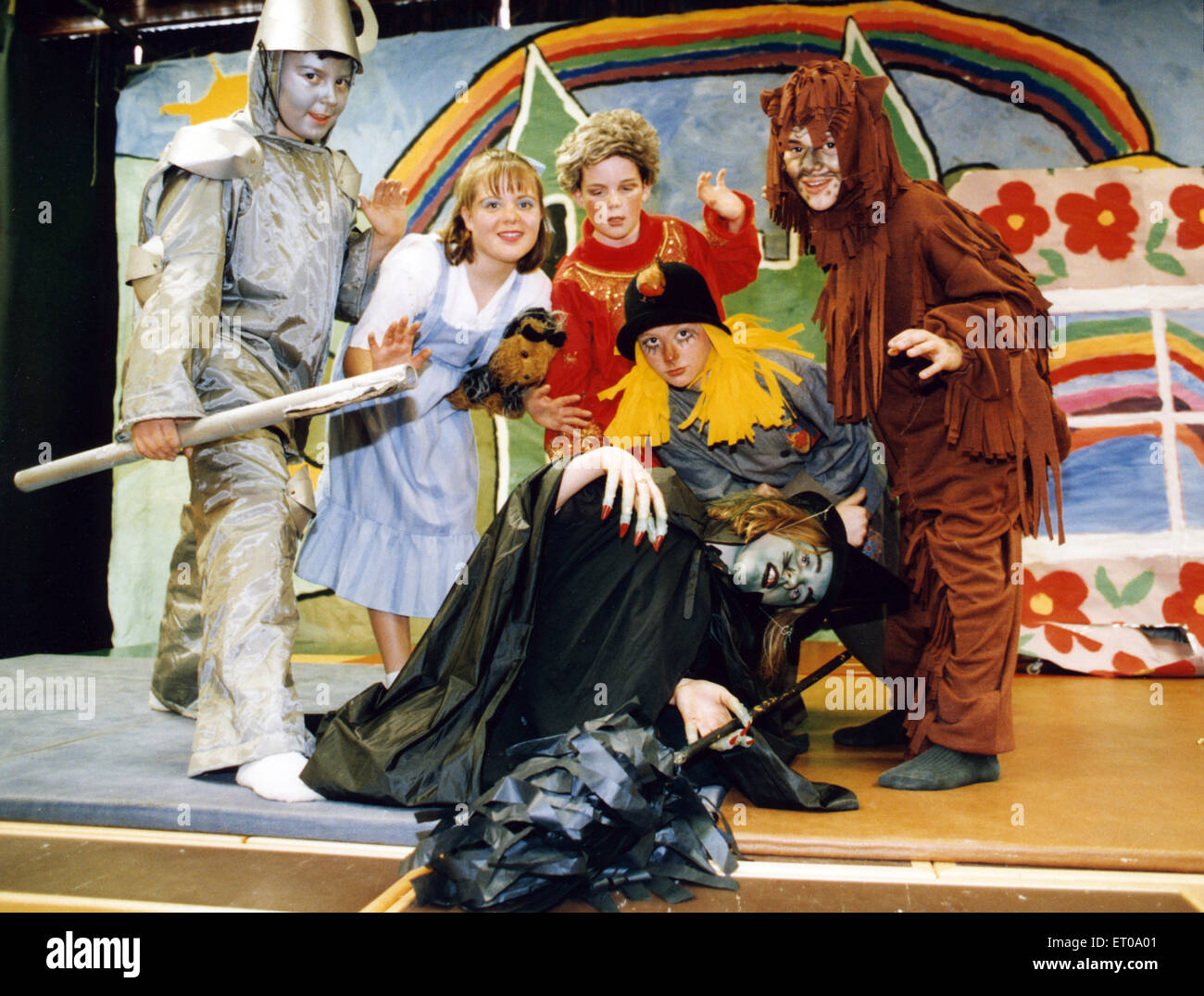 Scene from the Wizard of Oz, presented by pupils from St Joseph's Primary School, Billingham. Watching the Wicked - Stock Image