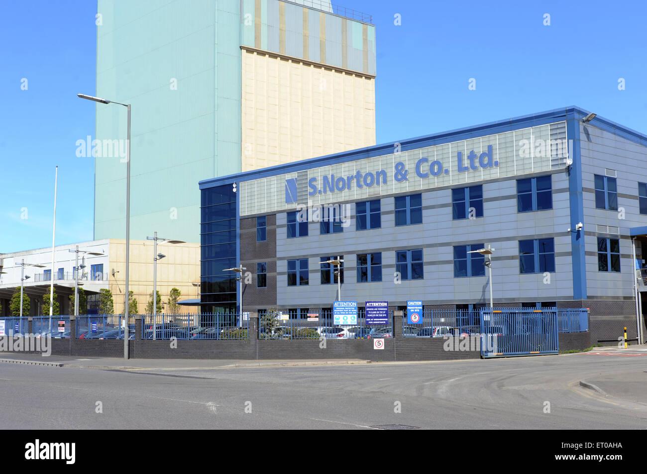 S.Norton & Co Ltd, Bankfield House, Bankfield Mil, Regent Road, Liverpool, L20 8RQ. Norton's are an established Stock Photo